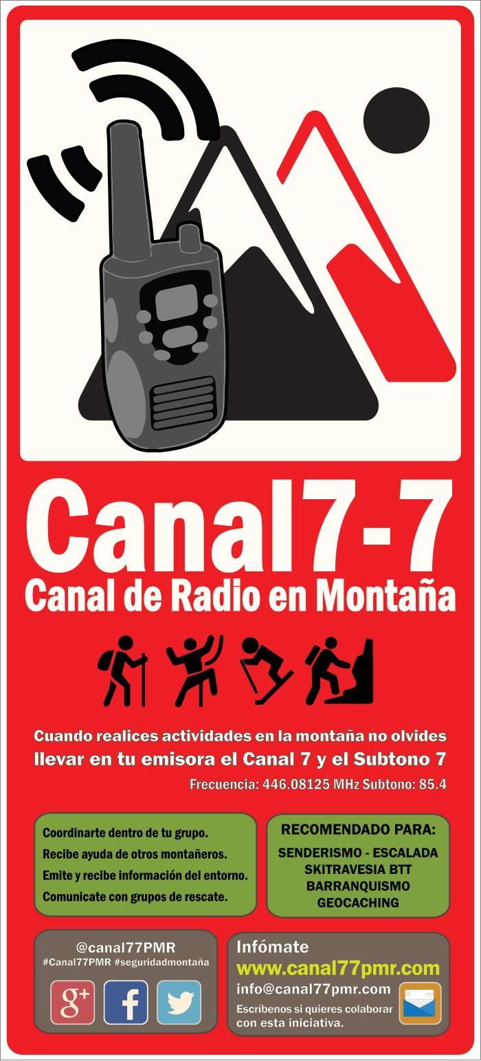 Canal de radio en montaña